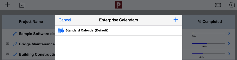 Create new enterprise calendar - project planning pro
