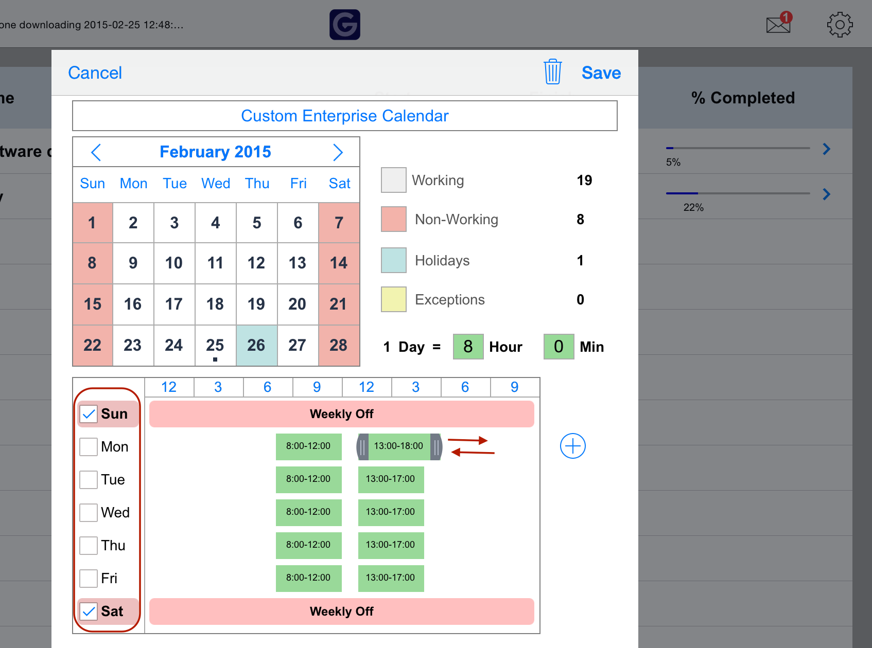 Create custom calendar - project planning pro